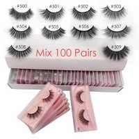 Gros cils 20/30/40/50/100 paires vison cils maquillage Volume 3D vison cils en vrac naturel faux cils