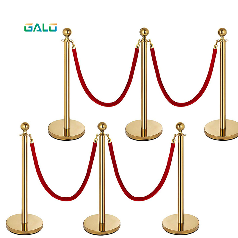 Queuing Rope Party Barrier Isolation Belt Hotel Post Office Shopping Mall Isolation Isolation Barrier Queue Pole