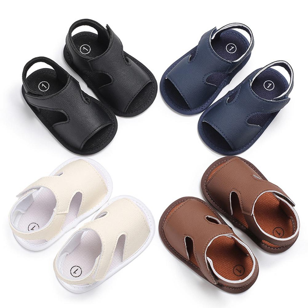 Shoe Prewalker Crib Anti-Slip-Sole Faux-Leather Baby-Boys Breathable New Summer Flat