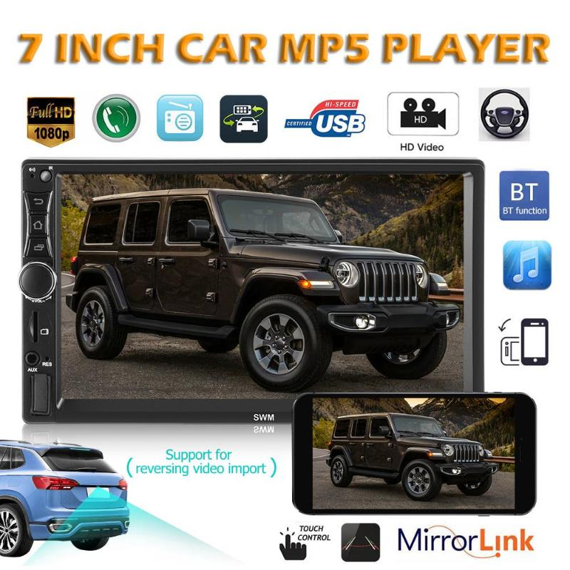 SWM A2 2Din Android 8.1 Car Radio Stereo Video MP5 Player 2 din 7 Touch Screen GPS Navi Bluetooth WiFi USB TF Multimedia Player image