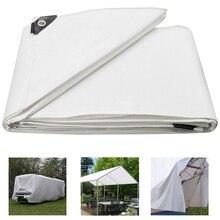 Poly Tarp Cover Wateproof UV Resistant Tear Proof Tarpaulin Canopy Tent For Outdoors Car Boat RV Pool-Heavy Duty