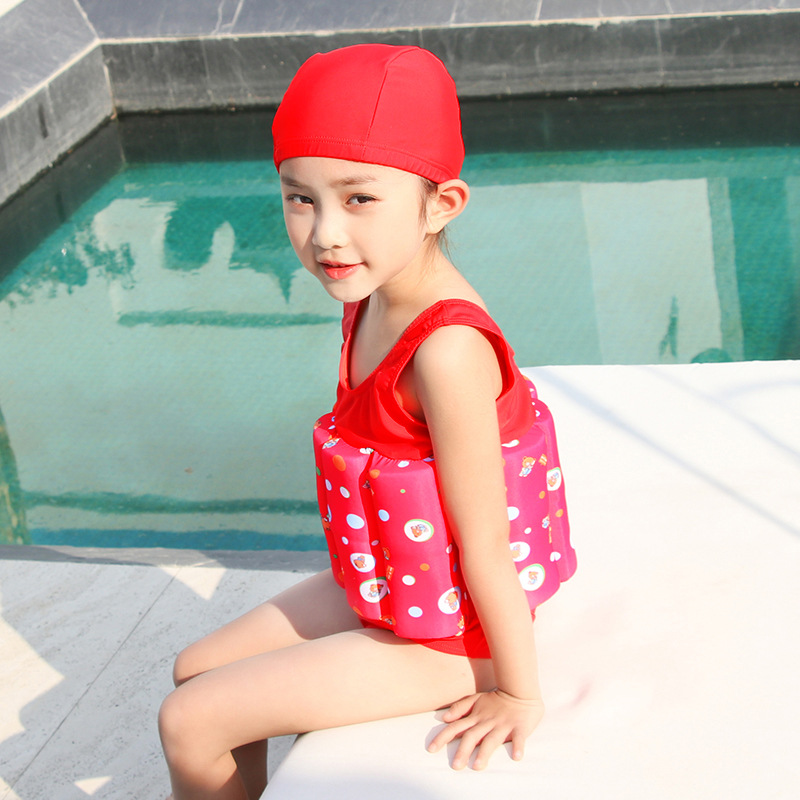CHILDREN'S Buoyancy Swimsuit Girls BABY'S Bathing Suit Baby One-piece Swimming Suit Fu Bang Deconstructable Floating Swimwear GI