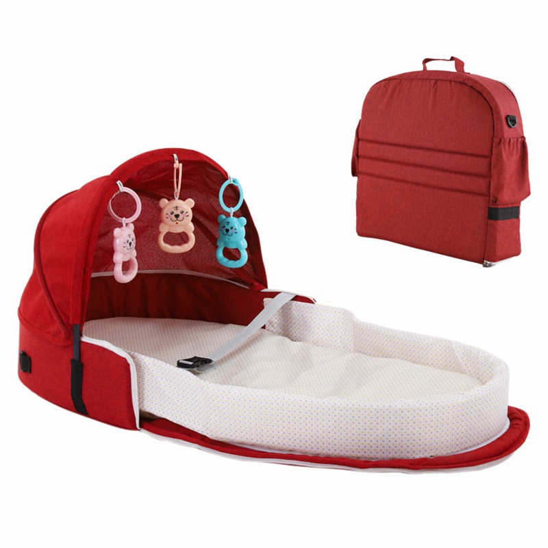 Portable Bed Foldable Baby Bed Travel Sun Protection Breathable Infant Sleeping Basket Infant Kids Toys