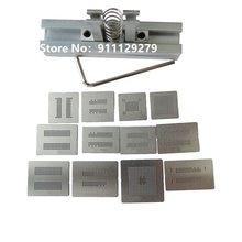 Memória calor direto bga reballing estênceis modelo titular gabarito para ddr1 ddr2 ddr3 ddr5 DR2-3 DDR3-2 gddr5 reparação de retrabalho de soldagem