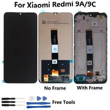 6.53 Polegada para xiaomi redmi 9a display lcd tela de toque digitador da tela peças reparo para redmi 9c tela lcd ferramentas gratuitas