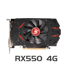VEINEDA Originale RX 550 4GB Schede Video GPU AMD Radeon RX550 4GB GDDR5 Schede Grafiche PC Desktop Del Computer gioco Mappa PCI-E X16