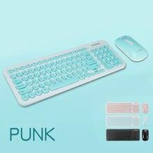 Беспроводная эргономичная клавиатура и мышь в комплекте 24 ГГц