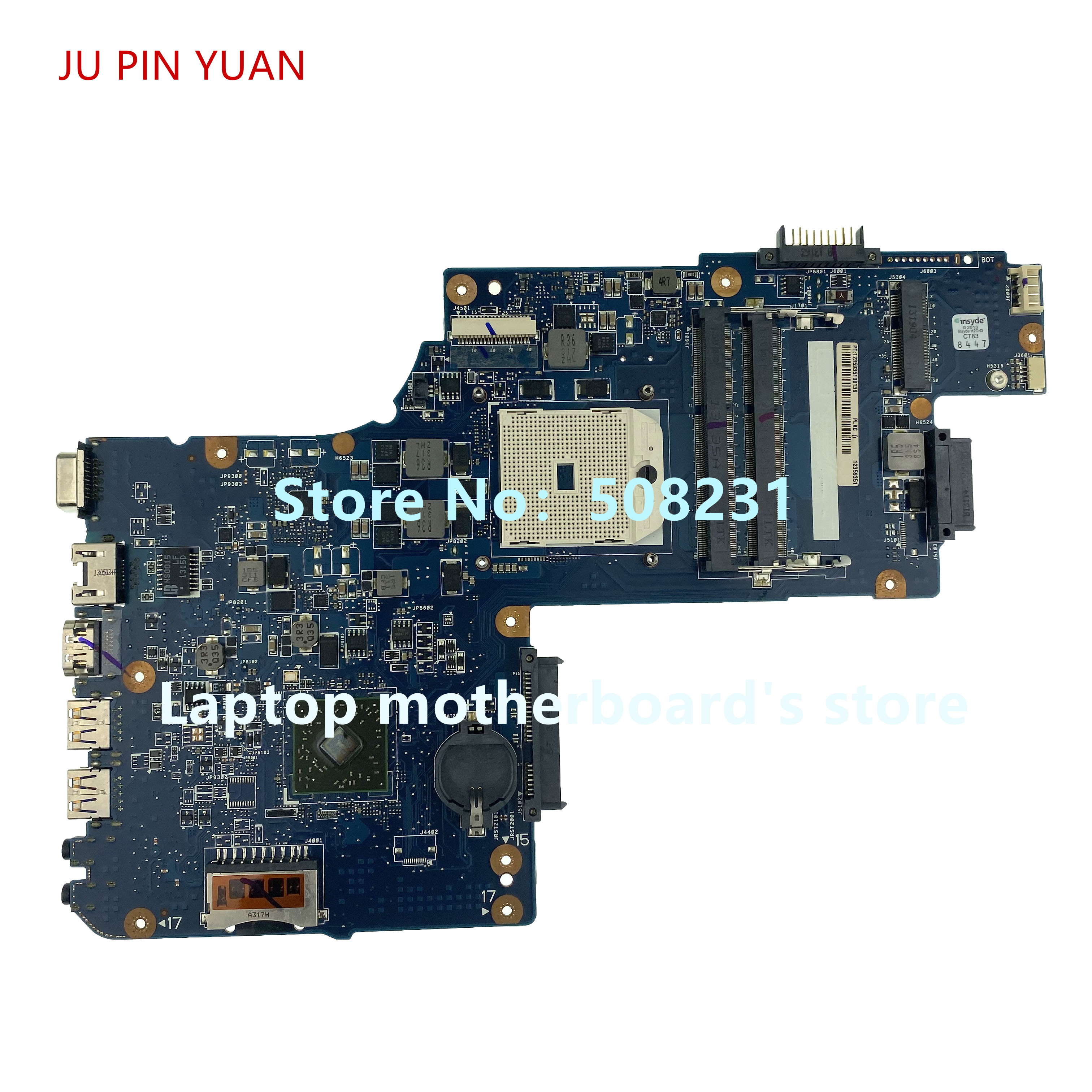 JU PIN YUAN For Toshiba Satellite L850D L855D C850 C855D C850D Laptop Motherboard PLAC/CSAC H000052420 100% Fully Tested