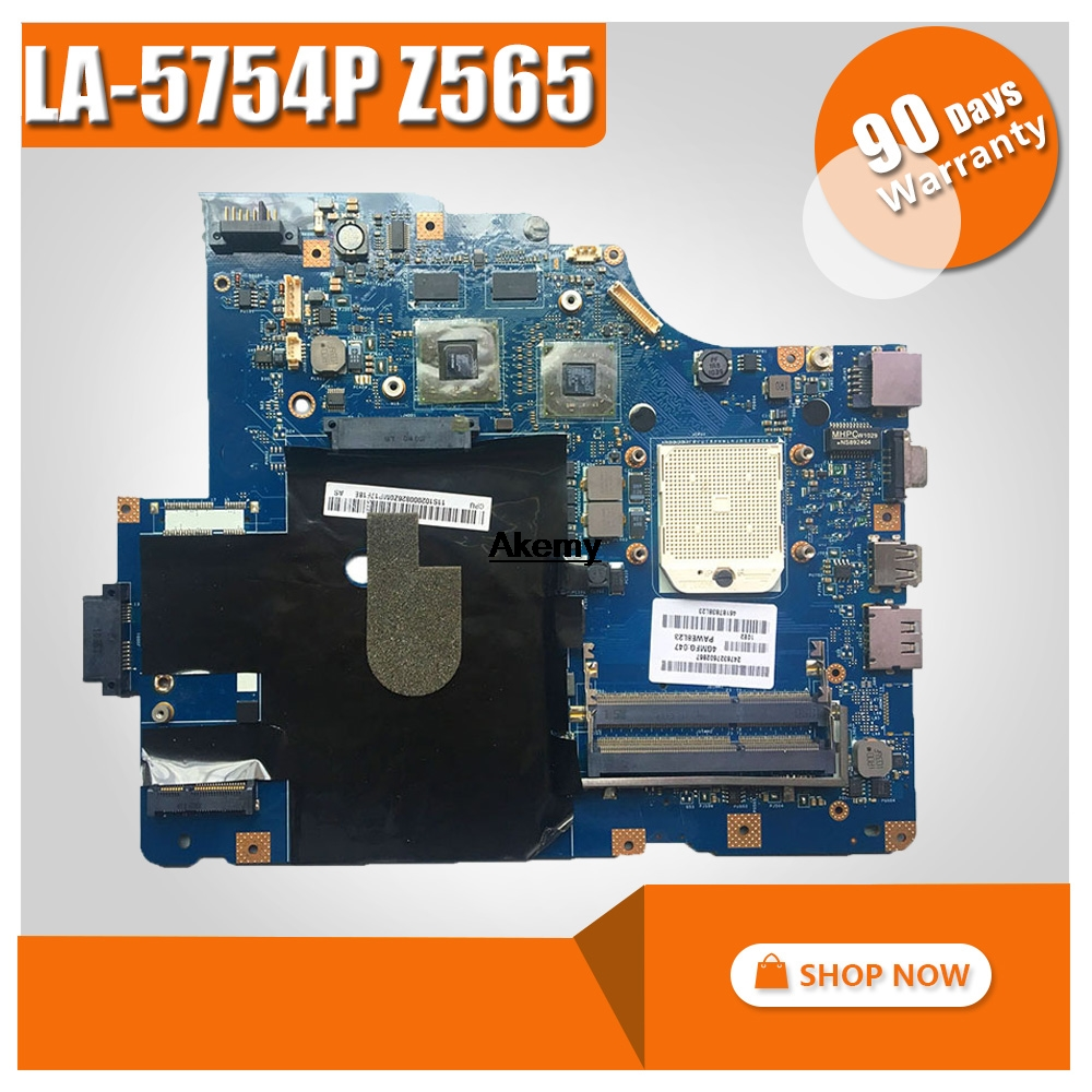 LA 5754P Laptop motherboard para Lenovo IdeaPad Z565 G565 mainboard original com placa de Video