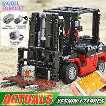Yeshin моторная техника, игрушечные машинки, погрузчик Legoing 3681, набор Mk II, сборные комплекты, игрушки для детей, рождественские подарки, строительные блоки, кирпичи