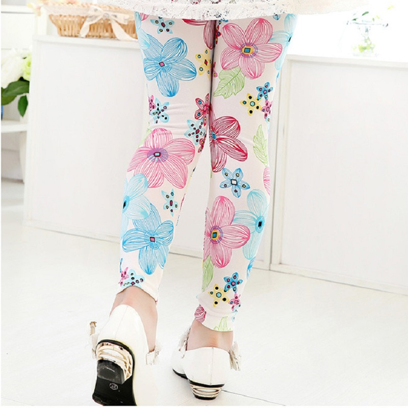 SITNS Girls Cute Printed Cotton Leggings for Children 3-8 Years Old