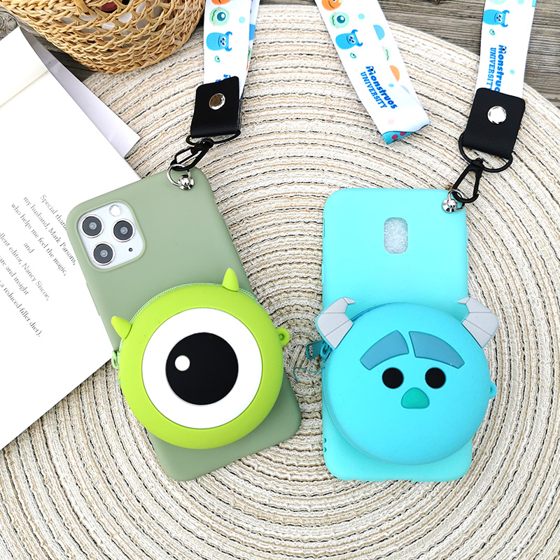 <font><b>Cute</b></font> Cartoon 3D Bear Wallet Phone <font><b>Case</b></font> for <font><b>Samsung</b></font> <font><b>Galaxy</b></font> <font><b>A70</b></font> A60 A50 A40 A30 A20 A10 A51 A71 M30 M20 M10 A8 Soft Silicone Cover image