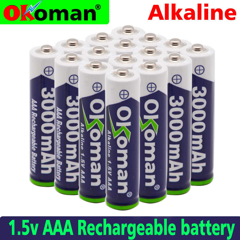 New Brand AAA 3000mah 1.5V Alkaline Battery AAA rechargeable battery for Remote Control Toy light Batery free shipping