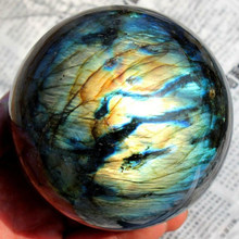 Living Room Home Gift Durable Stone Colorful Decoration Beautiful Fashion Ball Office Labradorite Sphere Healing(China)