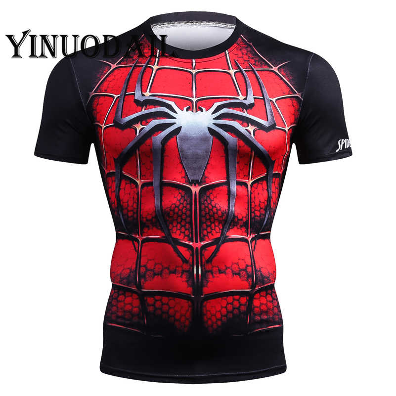 2019 homens de fitness t camisa spider_man 3d impresso camiseta homme unisex streetwear casual camisa curta superheroes cosplay tshirt