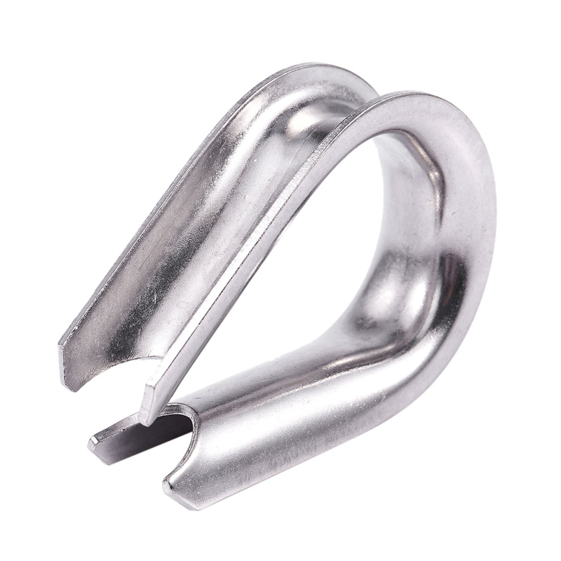 16mm 5/8-inch Stainless Steel Wire Rope Cable Thimbles Silver Tone