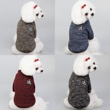 Одежда для собак зимнее вязаное пальто для маленькой собаки свитер Shih Чихуахуа Пудель куртка для собак домашних животных джемпер свитер для собак кошек s-xxl