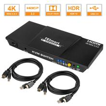 Tesmart 2x1 KVM switch 4k60hz HDMI KVM switch 2 port HDMI switch support 3840*2160/4K