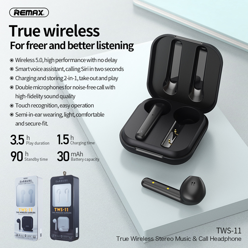 Neue Ankunft <font><b>Remax</b></font> Bluetooth V5.0 Touch bedienen Headset TWS Wahre <font><b>Wireless</b></font> Dual Earbuds Bass Sound Für Huawei Xiaomi iPhone image