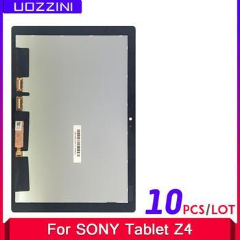 10 Uds. 100% probado para Sony Xperia Tablet Z4 sdp771 sdp712 pantalla LCD digitalizador Sensor Panel de vidrio reemplazo de montaje