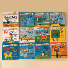 Random 4 Books 13x13cm Picture Books For Kids Children Baby English Pete Cat Series Storybook Child IQ EQ Training Bedtime Story(China)
