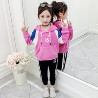 JMFFY Girl Sets Autumn Spring Infant Kids Baby Girls Tracksuit Outfits Hooded Suits Sport Children Clothing 2019 Toddler 4 15T