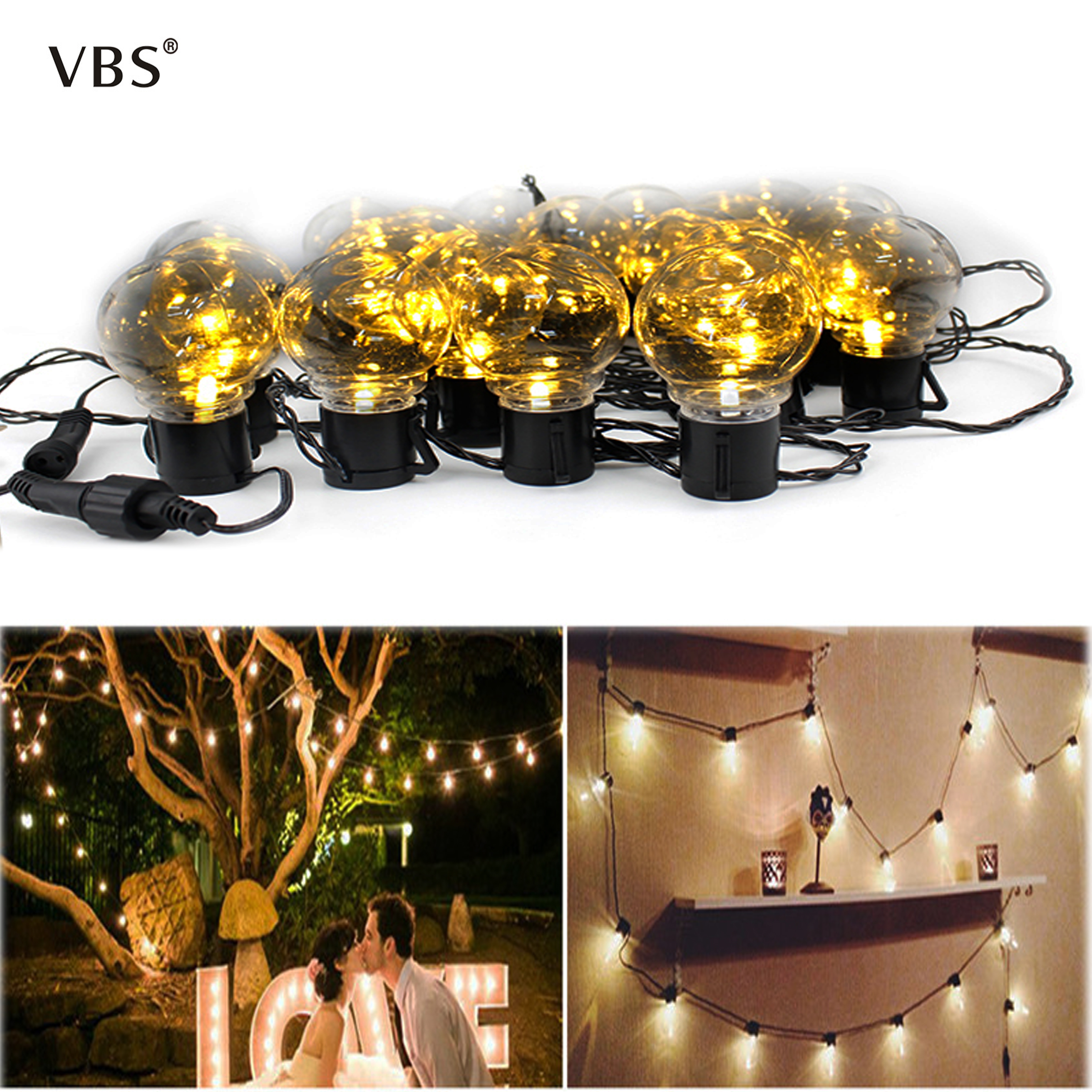 Holiday lighting LED Globe Bulb String light 220V Waterproof New Year garland Decoracion for indoor &outdoor christmas