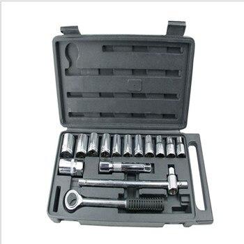 цена на Set Of 16 Sets Of Sleeve Set Of Household Tools Combination Repair Tools Hardware Sleeve Auto Repair Sleeve Toolbox