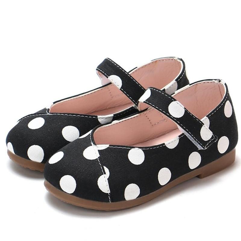 sapatos primavera outono crianças sola macia dot