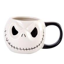 """ใหม่มาถึงแจ็ค Skellington แก้ว,""""Nightmare Before Christmas"""" การ์ตูนแก้วกาแฟชาถ้วย"""