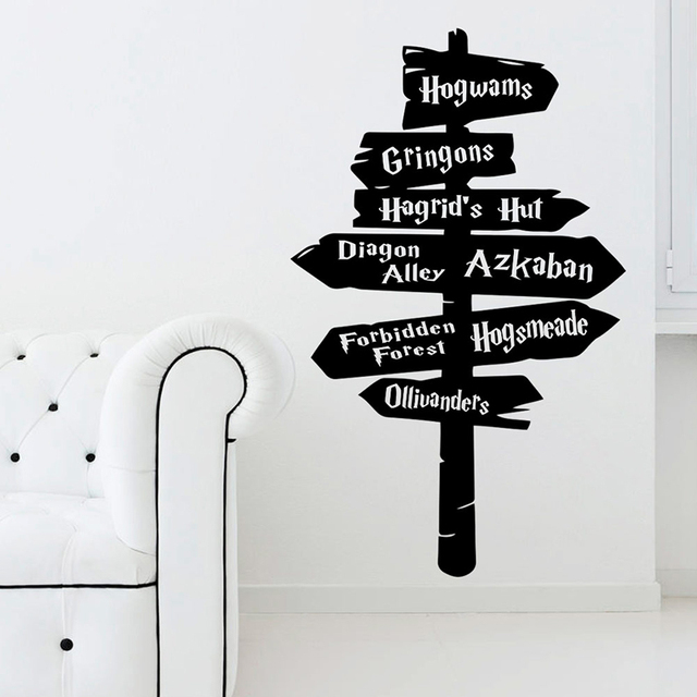Harry Guideboard Wall Stickers For Home Decor kids Room Decoration Vinyl Art Decals Boys Bedroom Poster Potter Mural Wallpaper