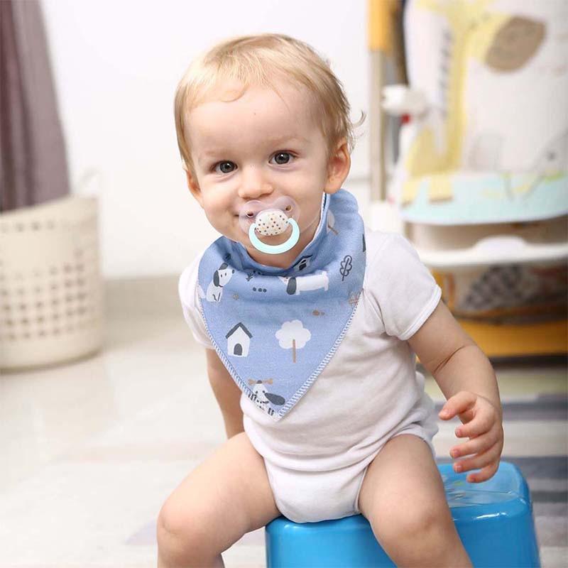 Bibs Shower-Gift-Set Baby-Bandana Organic Feeding Drool Cotton 8-Pack Teething Unisex
