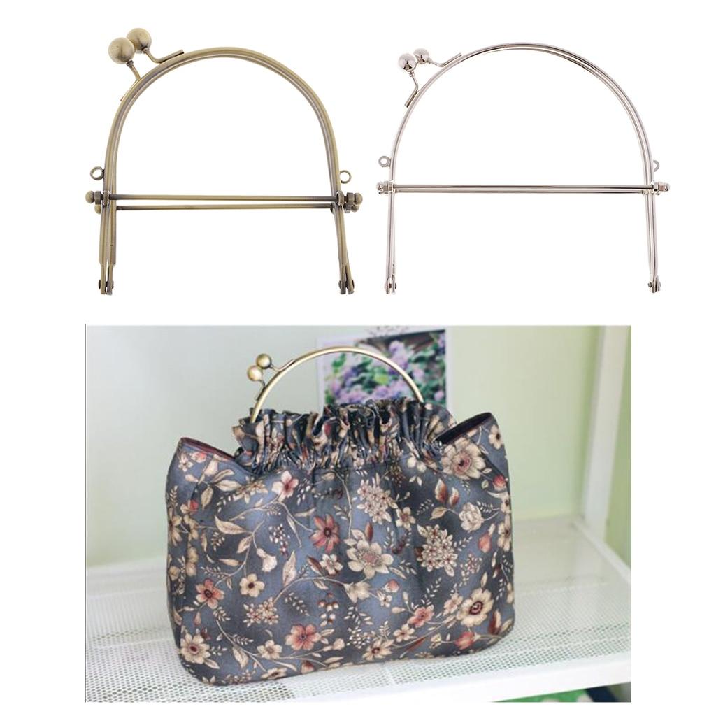 1Pcs Metal Frame Kiss Clasp Arch Lock For Purse Bag Wallet Handbag DIY Crafts 15cm