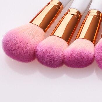 12pcs/set Professional Makeup Blush Loose Powder Cosmetics Foundation Face Make up Brushes Wooden Handle Eye Shadow Brush Tools 3