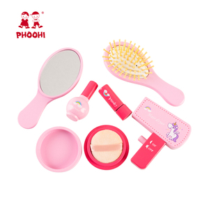 Image 2 - Girls Makeup Set Toy Wooden Cosmetics Toy Baby Pretend Play Simulation Beauty Fashion Toy For Kids PHOOHI
