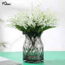 Faux-Lily Bouquet Flowers Wedding Valley White Small Fake 6pcs/Lot Home-Desk-Decor Plastic