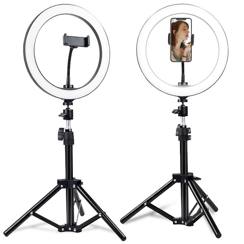 Light Led Ring Light With Tripod Selfie Ring Light With Cell Phone Holder Selfie Ring Light Clip Led Video Light Dimmable