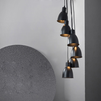 6 heads Pendant Lamp with E14 25w Industrial Pendant Lighting Home Bedroom Hanging Light Fixture