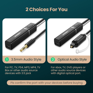 Image 5 - Bluetooth трансмиттер Ugreen, Bluetooth 5.0 наушники для ТВ, ПК, PS4, aptX LL, 3,5 мм, AUX, SPDIF, оптический и аудио разъем 3,5 мм, адаптер для музыки Bluetooth 5.0