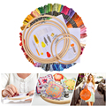 Magia bordado caneta punch agulha kit artesanato bordado linhas ponto cruz bordado hoop diy tricô costura acessórios ferramentas