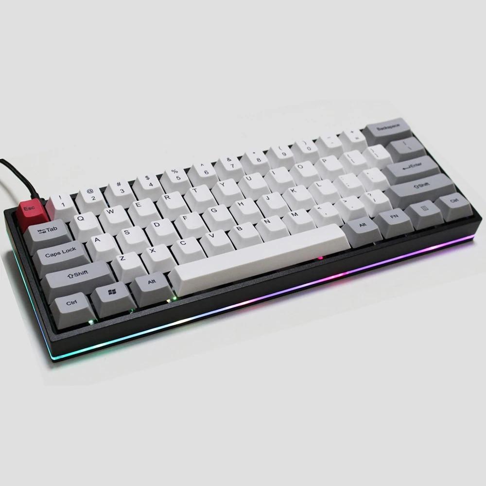 RGB20 Mechanical Keyboard DIY Anodized Aluminum Case Al Shell RGB Side  Shine Through Gateron Cherry MX Switches QMK Programme