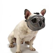 Muzzles French Bulldog Pet-Dog Dog Training Mouth Pug Adjustable Mesh Snout Short Bark-Control-Device