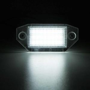 Image 5 - 2 pces 12v 24 led luzes da placa de licença do número do carro lâmpadas branco para ford mondeo mk3 mkii 2000 2007 4 porta/5 porta