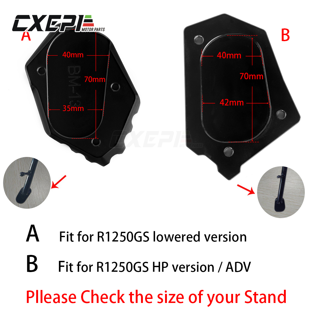 CNC Motorcycle Side Stand Kickstand Extension Enlarge  Fit for BMW R1200GS LC