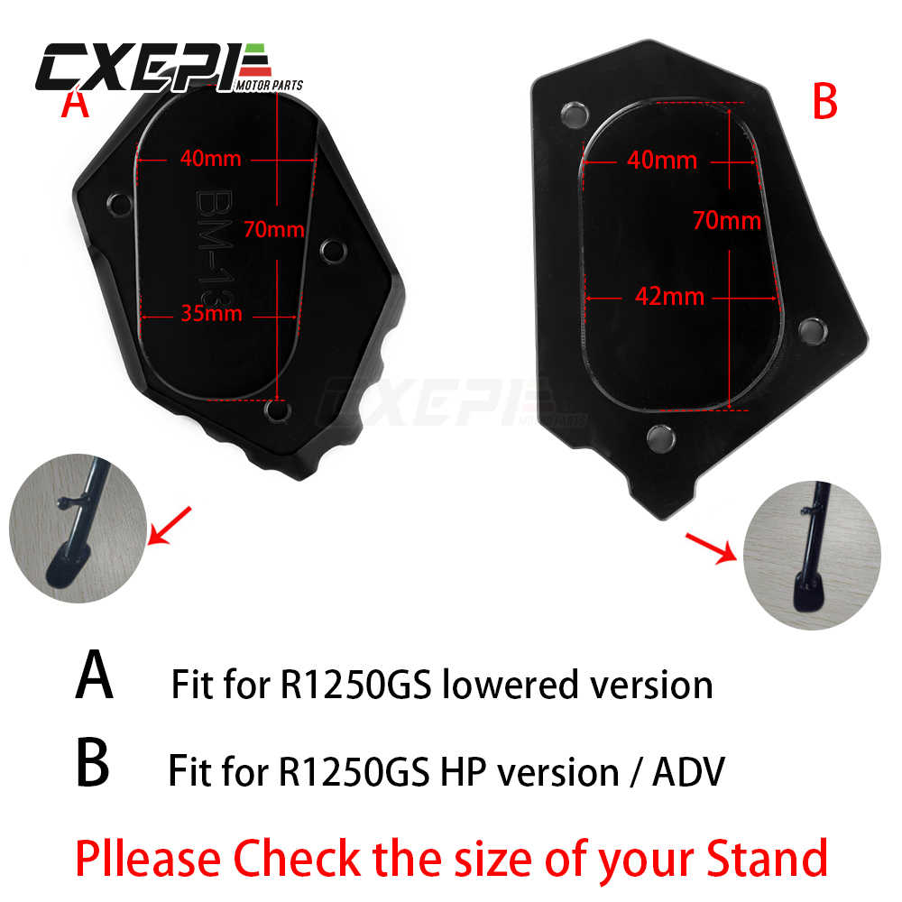 GZYF 1PC Kickstand Side Stand Pad For BMW R1200GS LC 2013-2016 /& Adventure 2015-2016
