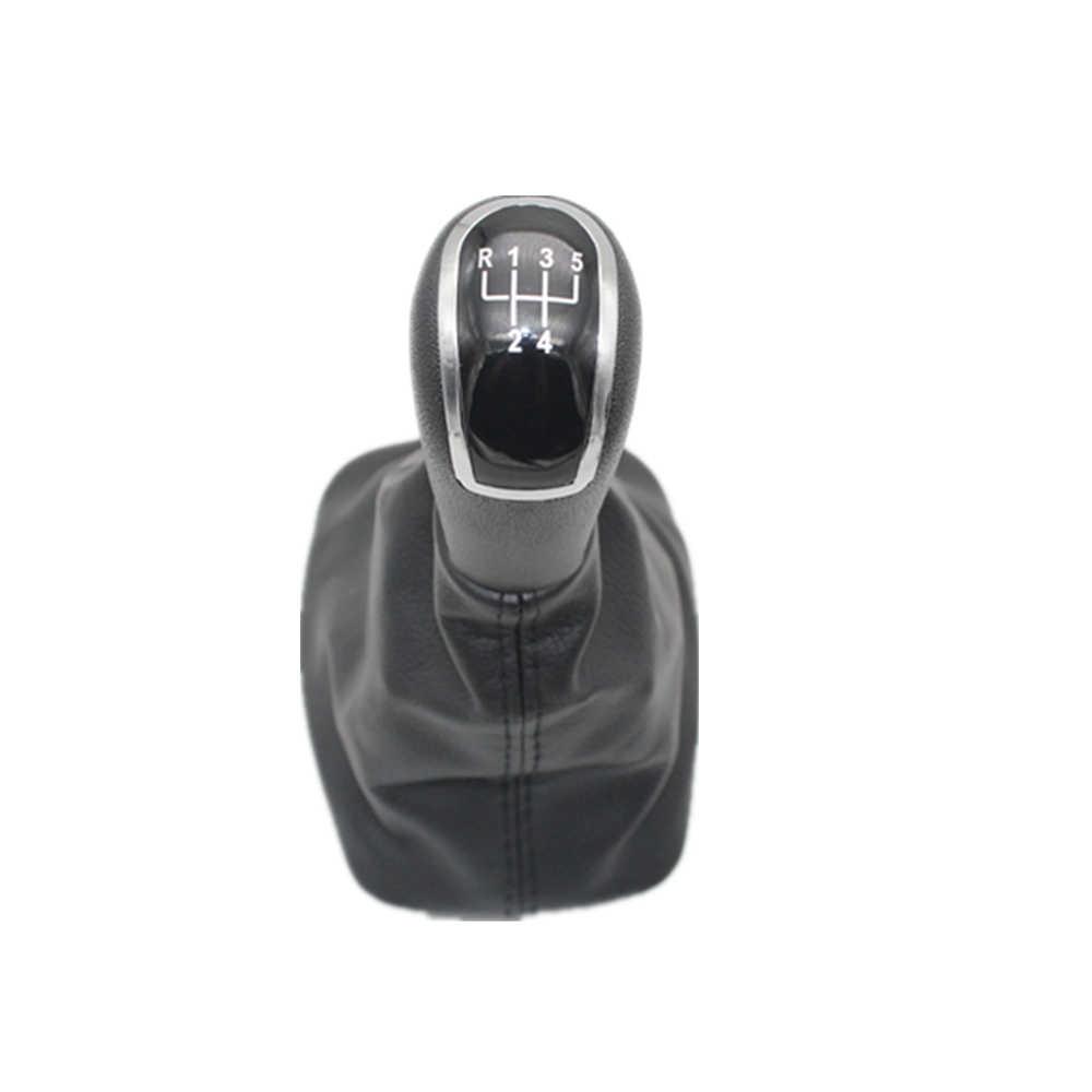 Skoda Fabia için MK1 1999 2000 2001 2002 2003 2004 2005 2006 2007 2008 araba araba-styling 5 hız vites sopa vites topuzu deri çizme