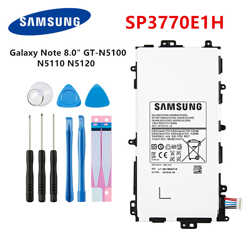 "SAMSUNG Orginal Tablet SP3770E1H battery 4600mAh For Samsung Galaxy Note 8.0"" GT N5100 N5110 N5120 Tablet Batteria +Tools