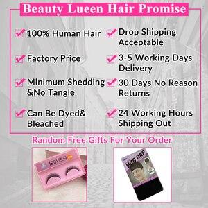 Image 5 - การรวมกลุ่มผมตรงบราซิล Hair Weave 3 Bundles ราคาถูกมนุษย์ผม Non Remy ความงาม Lueen ผม