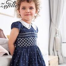 ZAFILLE Baby Girl Clothes Girls Summer Dress Short Sleeve Dot 2020 New Toddler Infant Kids Clothing