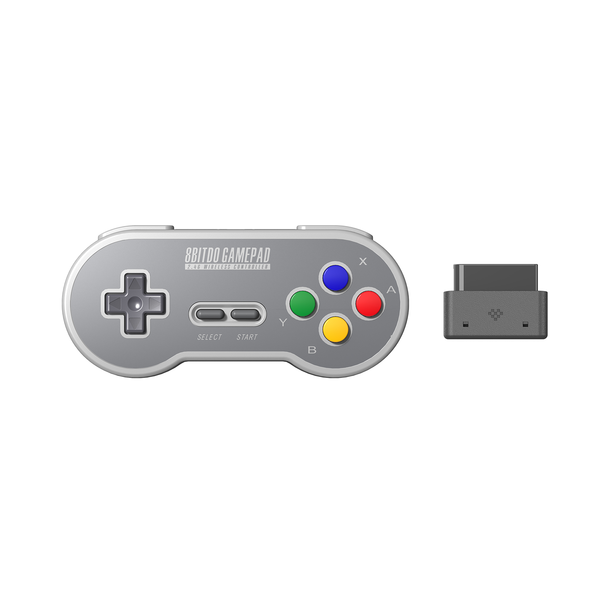 8BitDo SN30 2 4G Wireless Gamepad for Original SNES S FC  SN Edition  - Super NES